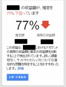 Google Adsense警告
