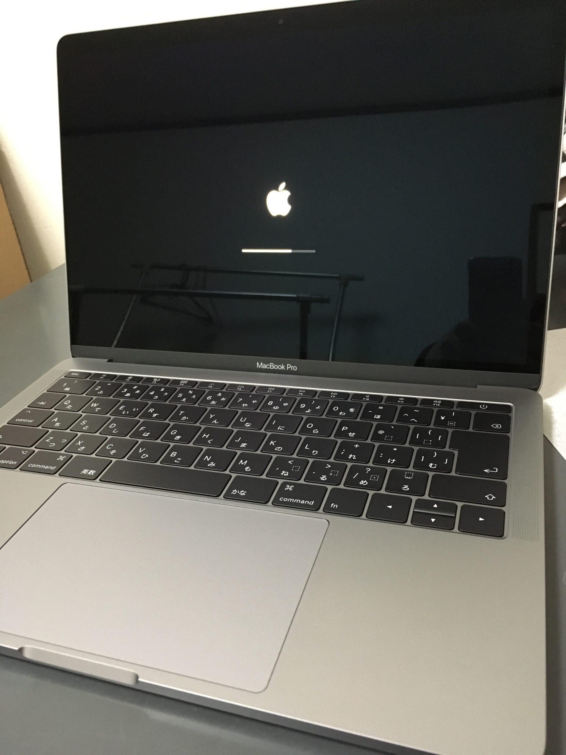 MacBookProの起動画面