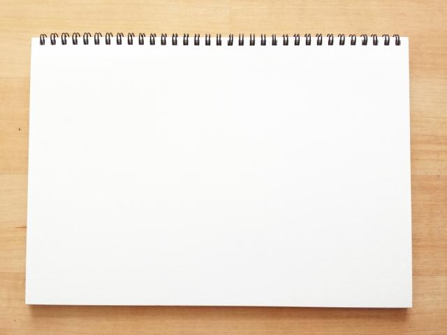 白いノートの画像